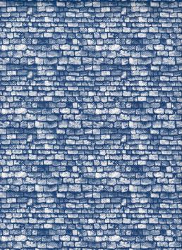 Italienisches Papier Steine blau