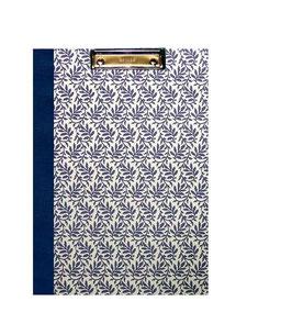 Klemmbrett Mappe DinA4 , Carta Varese Papier Blätterranken  blau