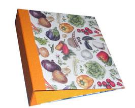 Ringordner DinA4 mit Bügelmechanik 8,5 cm breit, Gemüse orange