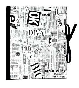 Ringbuchordner für DinA4 , 3 ,5 cm breit, Carta Varese Newspaper