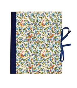 Ringordner DinA4 mit Bügelmechanik  6 cm breit, Ringordner ,Florentiner Papier Ornamente Vögel mit Golddruck