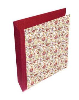 Ringordner DinA4 mit Bügelmechanik 7cm breit, Carta Varese Papier Blumenranken rot grün gelb