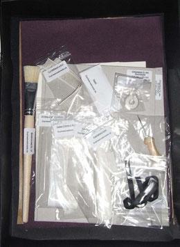 Material / Starterset ohne Leim ,zum binden eines Buches / Fadenheftung für ein Din A 5 Buch ..Mit Anleitung im Heftformat DinA5 Halbgewebeeinband