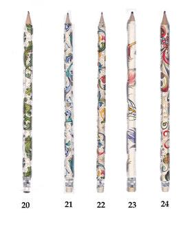 Bleistifte mit verschiedenen Motiven, klassische italienische Papiere