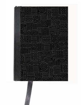 Kalender / Buchkalender / Taschenkalender 2019 DinA7, Baumwollpapier Azteka schwarz