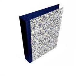 Ringordner DinA4 mit Bügelmechanik 7cm breit, Ornamente blau