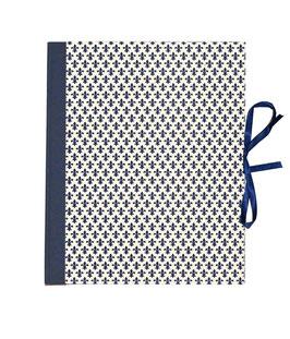 Ringbuchordner für DinA4 , 3 ,5 cm breit, Carta Varese Papier Lilien blau