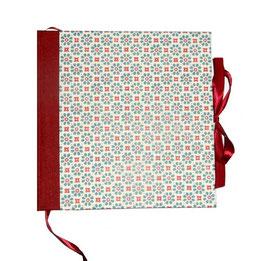 Gästebuch / Schreibbuch / Tagebuch Carta Varese  Papier kleine Blumen  blau rot