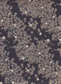 """Baumwoll Papier handgeschöpft, aus Nordindien """" Kyoto schwarz gold """""""