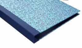 Ringbuchordner für DinA4 , 3 ,5 cm breit, Baumwollpapier, Popy blue