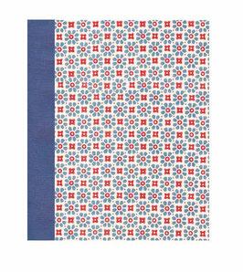 Ringordner Din A5, 3,5  cm breit, kleine Blumen rot blau,blau, zweifach Mechanik