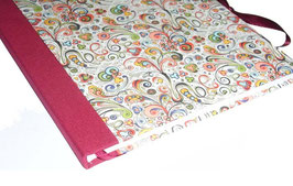 Gästebuch / Schreibbuch / Tagebuch  florentiner Papier mit Golddruck kleine Ornamente