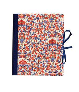 Ringbuchordner  DinA4  Florentiner Papier rot blau gold, 3 cm breit