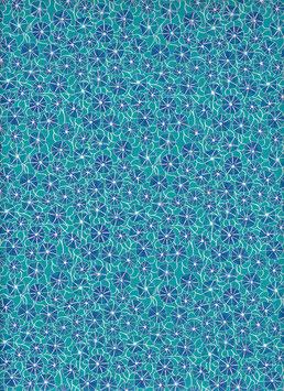 Baumwoll Papier handgeschöpft, aus Nordindien ,Poppy Blue
