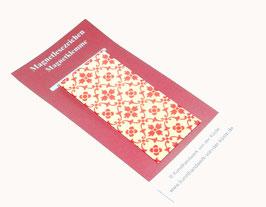 Magnetlesezeichen kleine Blümchen rot