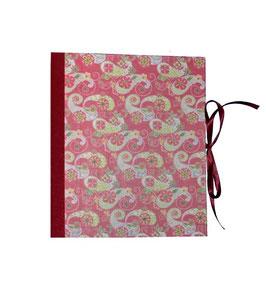 Ordner / Ringordner Paisley Muster bordaux rot, 3 cm breit