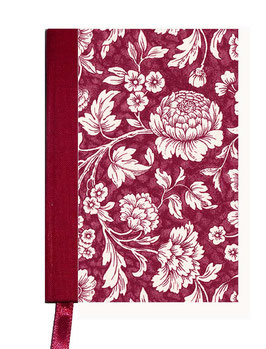 Kalender / Buchkalender / Taschenkalender 2019 DinA7, Carta Vares Papier ,große Blumen rot