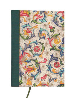 Kalender / Buchkalender / Taschenkalender 2019 DinA7, Florentiner Papier Ornamente bunt gold