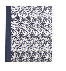 Ringordner Din A5,  2 cm breit,Carta Varese Blätterranken blau ,zweifach Mechanik