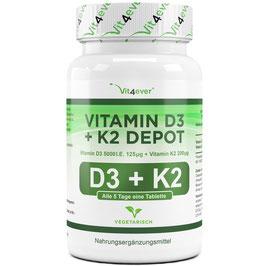 Vitamin D3 5.000 I.E. + Vitamin K2 200 mcg - 180 Tabletten