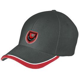 FC Lauenburg Cap  schwarz/rot mit Nachwuchslogo / Grösse verstellbar