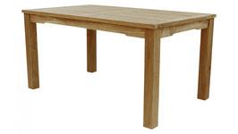Der Klassische: Teak- Tisch mit 6 cm festen Beinen in 5 Varianten -  Höhe 75 cm