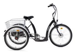 Popal E Luxe driewieler 24 Zoll Unisex 7G Rollerbrakes Schwarz