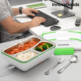 Tech Pro elektrische Lunchbox - aus Edelstahl mit 3 Fächern