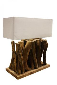 Tischlampe Teak Wurzelholz Höhe 80 cm