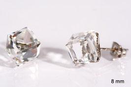 Ohrstecker mit Würfelkristallen von Swarovski