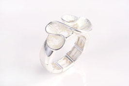 Stretch-Ring in silber-matt
