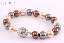 Perlen-Armband mit 10 mm Perlen (in Mallorcaqualität)