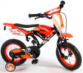 Volare Motorbike 12 Zoll 21,5 cm mit Rücktrittbremse schwarz/rot oder schwarz/grün