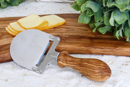 Käsehobel mit Griff GEDRECHSELT aus Olivenholz