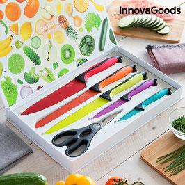 InnovaGoods Swiss·Q Fashion Keramikmesser und Scherenset (6-teilig)
