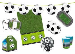 62 teiliges Partyset - Fußball - für 8 Kinder