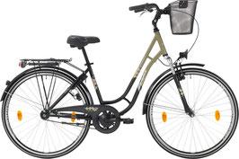 Leader Toury 26 oder 28 Zoll - Damenrad - Rücktrittbremse - Farbe Grau/Schwarz