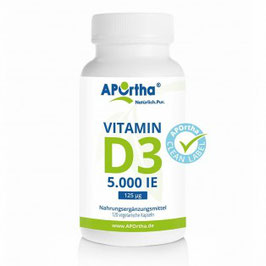 Vitamin D3 Tabletten 5.000/10000/20000 IE - vegan - Familiengrosspackung 365 Tabletten