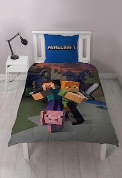 Minecraft - Wendebettwäsche-Set 200 x 130 cm