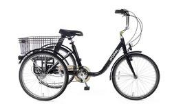 Popal Senioren Driewieler 24 Zoll Unisex 6G Rollerbrakes Schwarz oder Silber