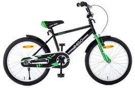 AMIGO BMX Fun 20 Zoll 31 cm Jungen Rücktrittbremse Schwarz/Grün oder Schwarz/Blau
