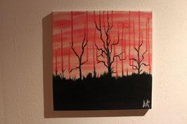 """""""Die blutenden Bäume"""" Ölgemälde"""