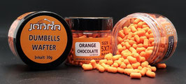 Dumbell Wafter 5 x 7 mm ORANGE CHOCOLATE