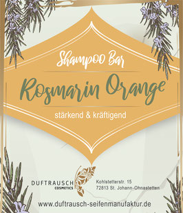 Shampoo Bar Rosmarin & Orange 80g