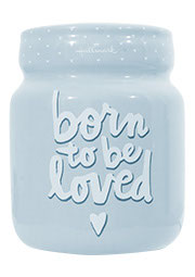 Spaarpot 'Born to be loved' - Blauw