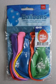 Ballonnen 'Hiep Hiep Hoera', 8x 30 cm