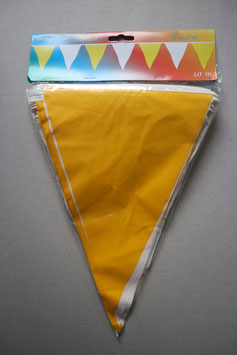 Vlaggenlijn communie 10 meter (geel-wit)
