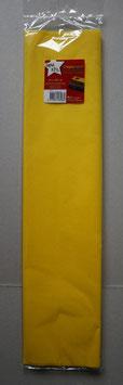 Crêpe papier 50 centimeter x 2,50 meter - Wit/Geel