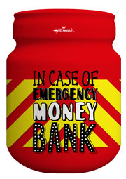 Spaarpot 'In case of emergency money bank'