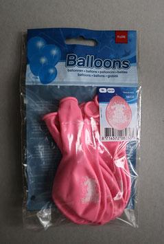 Ballonnen 'Hoera een meisje'/'Hoera een jongen', 8x 30 cm